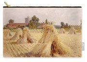 Corn Stooks By Bray Church Carry-all Pouch by Heywood Hardy