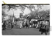 Corner Club 4 Black And White-mardi Gras Carry-all Pouch