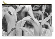 Cornstalks Black And White Carry-all Pouch