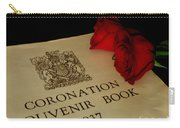 Coronation Book With Roses Carry-all Pouch