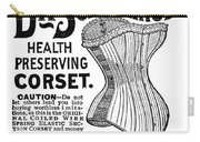 Corset Advertisement, 1887 Carry-all Pouch