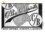 Corset Advertisement, 1888 Carry-all Pouch