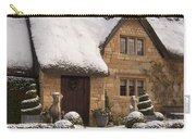 Cotswolds Cottage Covered In Snow Carry-all Pouch