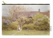 Cottage Freshwater Isle Of Wight Carry-all Pouch by Helen Allingham