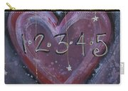 Counting Heart Carry-all Pouch