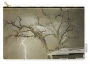 Country Horses Lightning Storm Ne Boulder Co 66v Bw Art Carry-all Pouch by James BO  Insogna