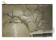 Country Horses Lightning Storm Ne Boulder Co 66v Bw Art Carry-all Pouch