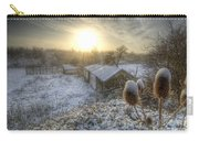 Country Snow And Sunrise Carry-all Pouch by Yhun Suarez