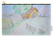 Country Woodshed Carry-all Pouch by Debbie Portwood