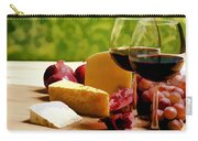 Countryside Wine  Cheese And Fruit Carry-all Pouch by Elaine Plesser