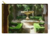 Courtyard In Sunshine Through Moorish Arches Carry-all Pouch