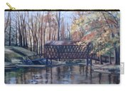 Covered Bridge At Lake Roaming Rock Carry-all Pouch