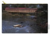 Covered Bridge In The Rain Carry-all Pouch