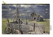 Covered Wagon And Farm In 1880 Town Carry-all Pouch