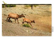 Cow And Calf Elk Carry-all Pouch