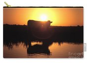 Cow At Sundown Carry-all Pouch by Picture Partners and Photo Researchers