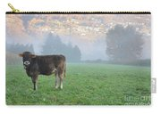 Cow On The Foggy Field Carry-all Pouch