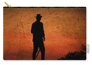 Cowboy At Sunset Carry-all Pouch