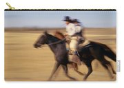 Cowboys Racing Horses Carry-all Pouch