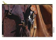 Cowboys Saddle And Chaps Detail Carry-all Pouch