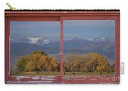 Cows Life Colorado Autumn Rocky Mountains Picture Window Art Carry-all Pouch