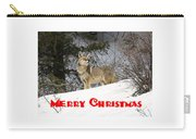 Coyote Christmas Carry-all Pouch