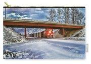 Cp Rail Coal Train Under Bridge Hdr Carry-all Pouch