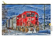 Cp Rail Train In Winter Hdr Carry-all Pouch