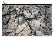 Cracked Rocks On Shore Carry-all Pouch