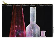 Cranberry And White Bottles Carry-all Pouch