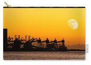 Cranes At Sunset Carry-all Pouch by Carlos Caetano