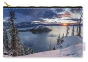 Crater Lake Snow Sunrise Carry-all Pouch
