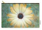 Cream Coloured Daisy Carry-all Pouch