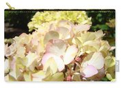 Cream Pink Hydrangea Flowers Art Prints Floral Carry-all Pouch