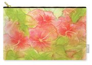 Creamsicle Hibiscus Carry-all Pouch