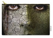 Creepy Cracked Face With Tears Carry-all Pouch by Jill Battaglia