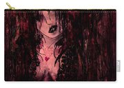 Crimson Torn Lace Carry-all Pouch