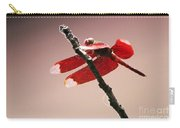 Crimson Wings At Dusk Carry-all Pouch