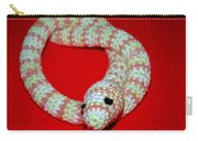 Crochet Snake In Red Carry-all Pouch