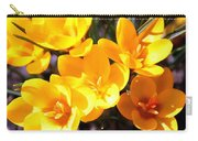 Crocuses In Yellow Carry-all Pouch