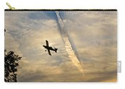 Crop Duster Under The Jet Trail Carry-all Pouch