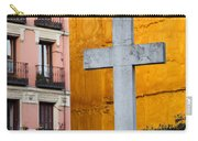 Cross In The City Of Madrid Carry-all Pouch