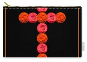 Cross Of Red And Orange Roses Carry-all Pouch