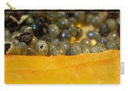 Cross Section Of A Cut Papaya With The Fruit And The Seeds Carry-all Pouch