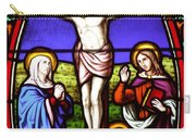 Cross Stained Glass Carry-all Pouch