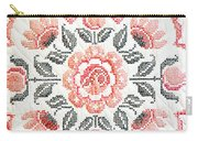 Cross Stitch Roses Carry-all Pouch