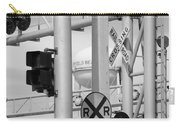 Crossing Signs In Black And White  Carry-all Pouch