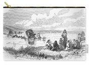 Crossing The Platte, 1859 Carry-all Pouch by Granger