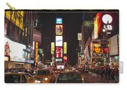 Crossing The Street At Times Square At Night Carry-all Pouch