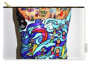 Crowded Beach Activities Carry-all Pouch by Karen Elzinga